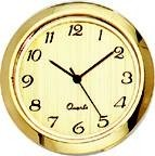 "Clock Fit-Up - 1 7/16"" - Gold/Arabic"