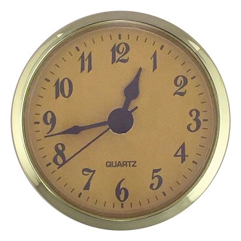 "Clock Fit-Up - 2 3/4"" - Gold/Arabic"
