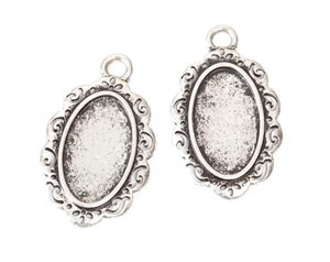 Frame Charms Oval - 26mm x 36mm - 2pc