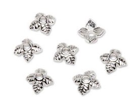 Cap Beads - Silver 6mm x 2mm - 21pc