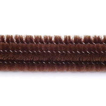 "Chenille Stems Brown (25pc) - 12"" x 3mm"