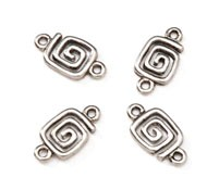 Connector Beads - Silver 14mm x 7mm - 24pc