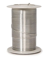 Coloured Wire - Silver - 24 Gauge
