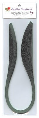 "Quilling Strips Black - 1/8"" x 17"" - 50pc"