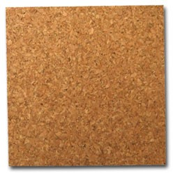 "Cork Wall Tile (4pc) - 6"" w/adhesive"