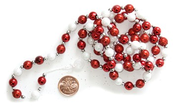 "Red & White Bead Garland - 3/8"" x 36"""