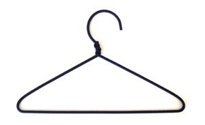 Wire Coat Hanger (3pc) - 2""