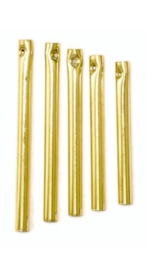"Wind Chime Goldtone Steel (5pc) up to 3 1/8"" x 3/16"" dia"