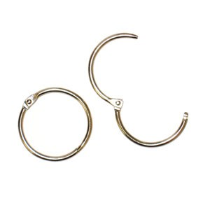 "Snap Ring 1"" Nickel 2pc"