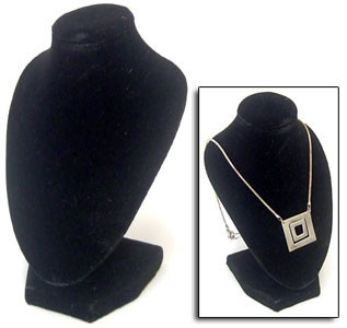 "Necklace Stand - 3D - 6"" Black"