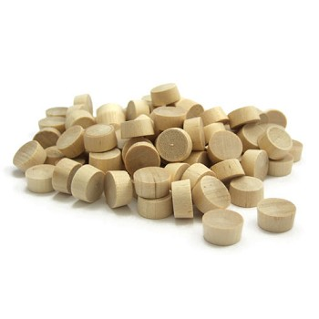 Birch Flathead Plugs (100pc) - 3/8""