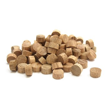 Oak Flathead Plugs (100pc) - 1/2""