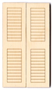 "Mini Shutters (2pc) - 4 1/2"" (previously #GD025)"