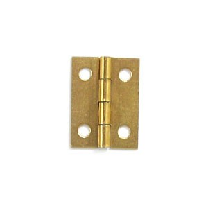 "Brass Plated Hinge - 1"" x 3/4"""