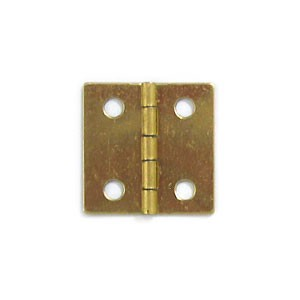 "Brass Plated Hinge - 1"" x 1"""