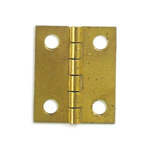 "Brass Plated Hinge - 1 1/2"" x 1 1/4"""