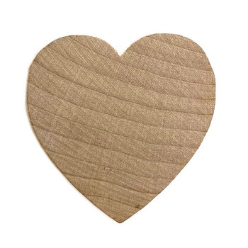 "Heart - 2"" wide x 1/4"" thick hardwood"