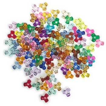 Tri-Beads 11mm - Transparent Opaque - 125pc