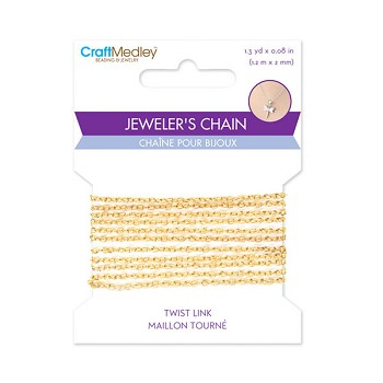 Jeweler's Chain - Gold - 2mm x 1.2m
