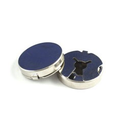 "Button Cover - Silver - 3/4"" 25pc"