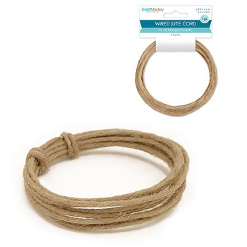Wired Jute Cord (6ply) - 3mm x 3m
