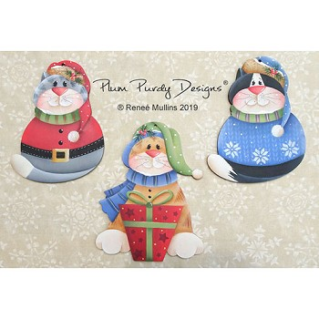 Renee Mullins Packet - Purdy Christmas Kitty Ornaments