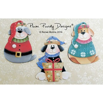 Renee Mullins Packet - Purdy Christmas Puppy Ornaments