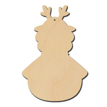 Plum Purdy Christmas Gnome Reindeer Ornament - 5 3/4""
