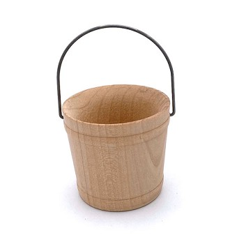 Wooden Pail with Handle - 2""