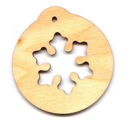 "Ornament Snowflake - 2 3/8"" wide (previously #PLY501)"