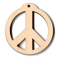"Ornament Peace - 2 1/4"" (previously #PLY505)"