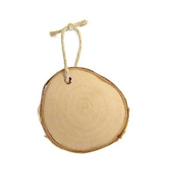 "Birch Ornament - Approx 2 1/2"" to 3"" dia x 1/2"" thick"