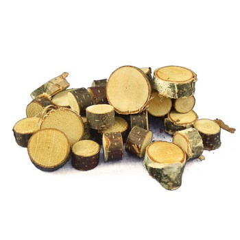 "Mini Birch Round Cuts - Approx 1/2"" - 1"" dia - 30pc"