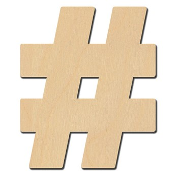"Hashtag Number Sign # - 3"" tall"
