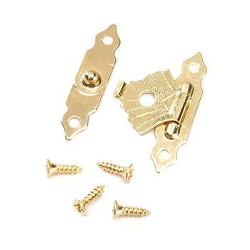 Brass Clasp Button/Hinge - 1 1/8""