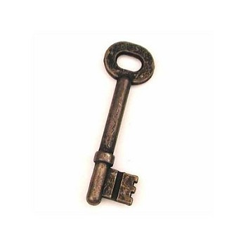 "Rusty Key 2 1/4"" Skeleton"