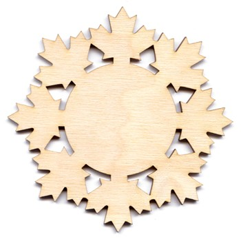 Maple Leaf Snowflake - 4""