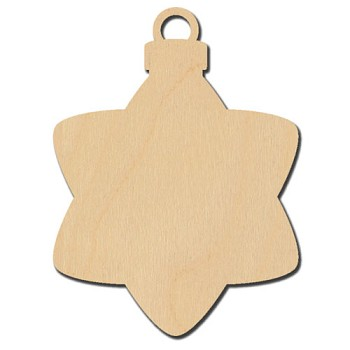 "Hanging Star Ornament - 2 1/2"" wide"