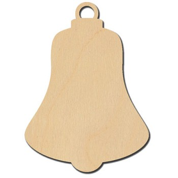 "Hanging Bell Ornament - 2 1/2"" wide"