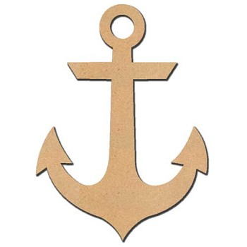 "Ship Anchor - 12"" tall x 1/4"" thick MDF"