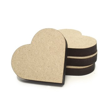 "Heart - 1 3/4"" wide x 1/4"" thick MDF"