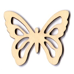 Classic Scroll Butterfly - 4""