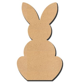 "Rabbit - 3"" tall x 1/4"" thick MDF"