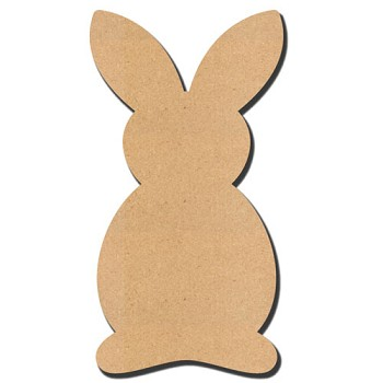 "Bunny - 15"" tall x 1/4"" thick MDF (Retired Shape)"