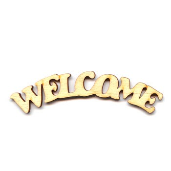 "Welcome Sign - 8"" Frown"