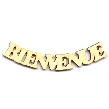 "Bienvenue Sign - 4"" Smile"
