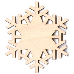 Winter Snowflake - Plain - 2""