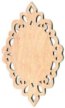 "Lacy Oval Ornament - 7 1/4"" x 4 1/4"""