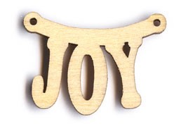 "Hanging Joy Sign (BTV#10) - 1 3/8"" wide"