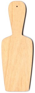 "Bread Board Ornament - Scoop Shape - 7"" tall"